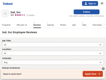 Working at Iod, Inc: Employee Reviews | Indeed.com