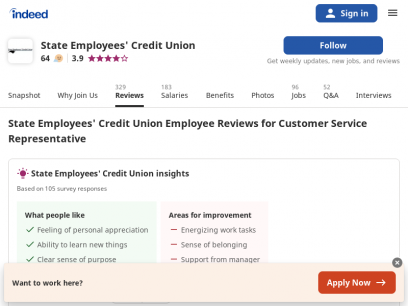 Working as a Customer Service Representative at State Employees' Credit Union: Employee Reviews   Indeed.com