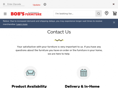 Contact Us | Bob's Discount Furniture