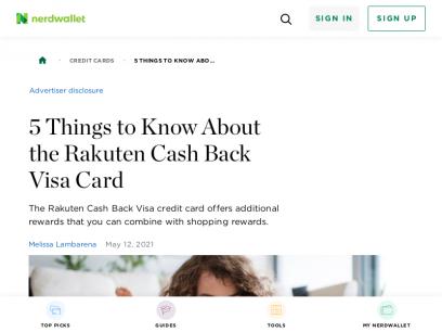5 Things to Know About the Rakuten Cash Back Visa Card - NerdWallet