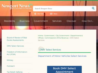 DMV Select Services   Newport News, VA - Official Website