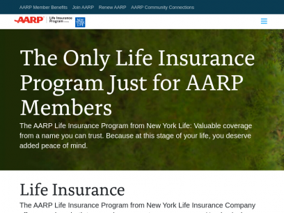 AARP Life Insurance from New York Life: Official Website