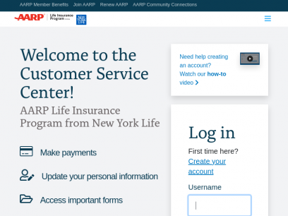 AARP Life Insurance from New York Life | Log In