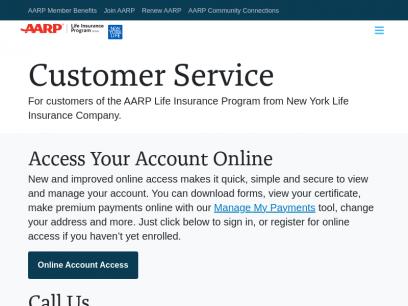 Customer Service for the AARP Life Insurance Program