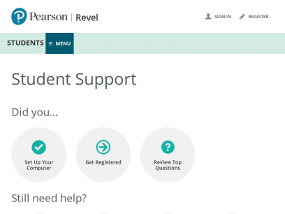 Support | Students | Revel | Pearson