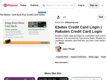 Ebates #CreditCard provides its customers with online login services. It is serviced by the Synchrony Ban…   Amazon credit card, Credit card protection, Credit card