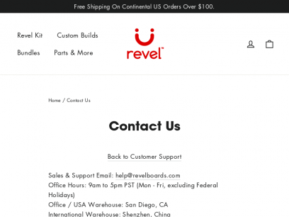 Contact Us – Revel Boards