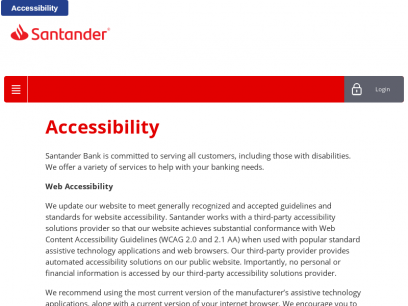 Accessibility - Santander - Liferay DXP