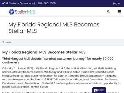 My Florida Regional MLS Becomes Stellar MLS | Stellar MLS