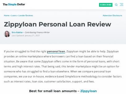 Zippyloan Personal Loan Review   The Simple Dollar