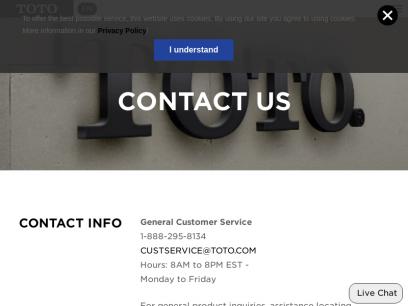 Contact Us - TotoUSA.com