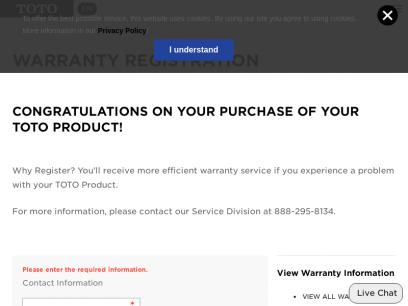 Warranty Registration - TotoUSA.com