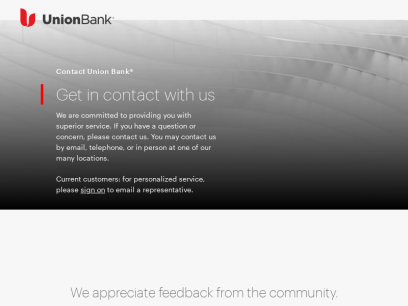 Contact Us - Union Bank Customer Service