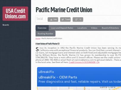 Pacific Marine Credit Union -  USACreditUnions.com