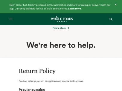 Customer Service   Whole Foods Market