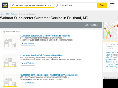 Walmart Supercenter Customer Service in Fruitland, MD with Reviews - YP.com