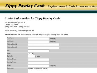 Contact Zippy   Faxless Loans   Direct Loan Lenders   Personal Loans   Instant Advances