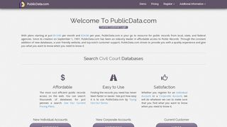Search Drivers License Databases - PublicData.com | Home