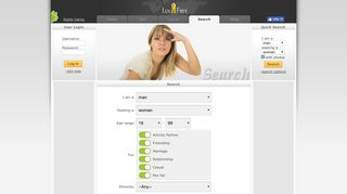 Search for your soulmate at LuvFree - Free Dating Site