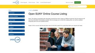 Search Online Courses - Open Suny
