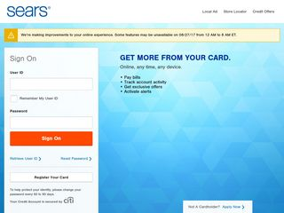 Sears Credit Card: Sign On
