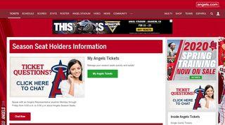 Season Seat Holders Information  Los Angeles Angels