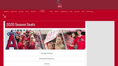 Season Seats  Los Angeles Angels