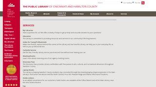 Services - The Public Library of Cincinnati and Hamilton County