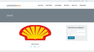 Shell – SchedulePro
