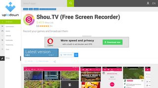 Shou.TV (Free Screen Recorder) 0.40.9 for Android - Download