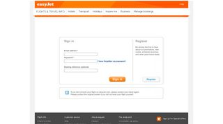 Sign In - Manage bookings - easyJet.com