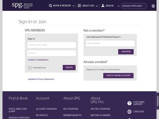 Sign In - Starwood Hotels & Resorts