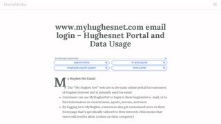 Sign In with your HughesNet email address