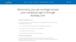 Sign In - Workday