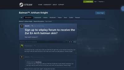Sign up to wbplay forum to receive the Zur En Arrh batman ...