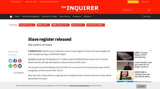 Slave register released | TheINQUIRER