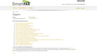 SmartFax Support, FAQs, Free Internet Faxing