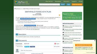 SMITHFIELD FOODS 401K PLAN | MyPlanIQ