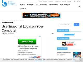 Snapchat Login on Your Computer - BlueStacks - Windows/Mac