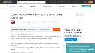 [SOLVED] Xerox WorkCentre 6605 Scan to email using Office 365 ...