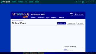 SplashFace | Victorious Wiki | Fandom