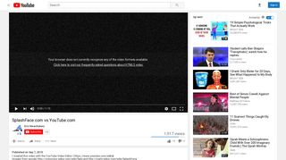 SplashFace.com vs.YouTube.com - YouTube