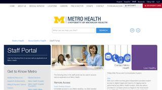 Staff Portal - Metro Health Hospital Metro Health