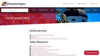 State Employees - Maryland.gov