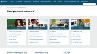 State of Oregon: Unemployment - Unemployment Insurance