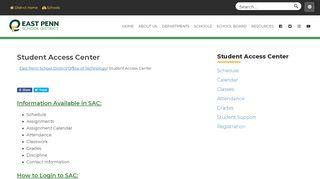 Student Access Center – East Penn School District