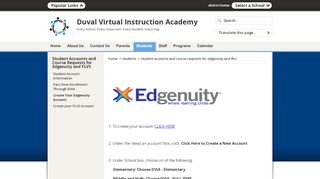 Student Accounts and Course Requests for Edgenuity and FLVS ...