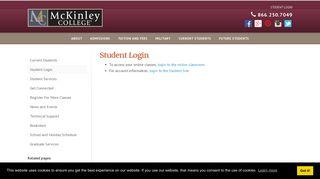 Student Login - McKinley College