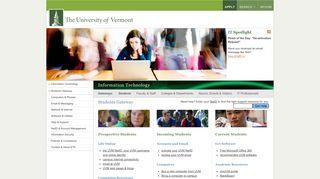Students Gateway : University of Vermont