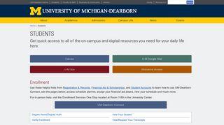 Students - University of Michigan-Dearborn